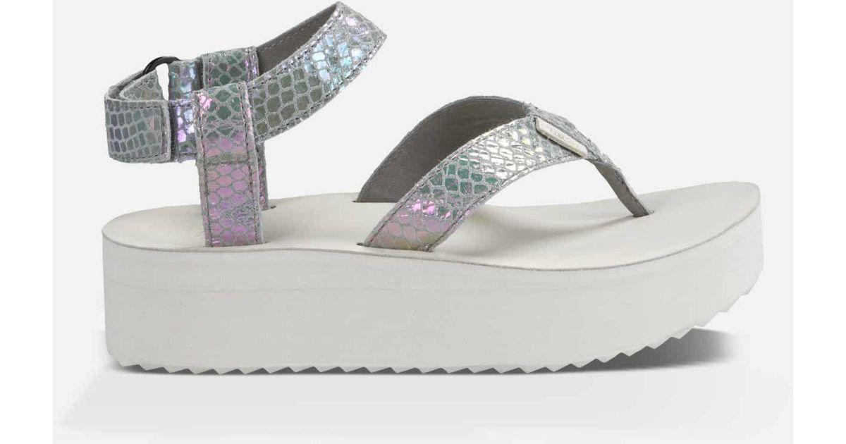 18b790f3477 Lyst - Teva Flatform Sandal Iridescent in Gray