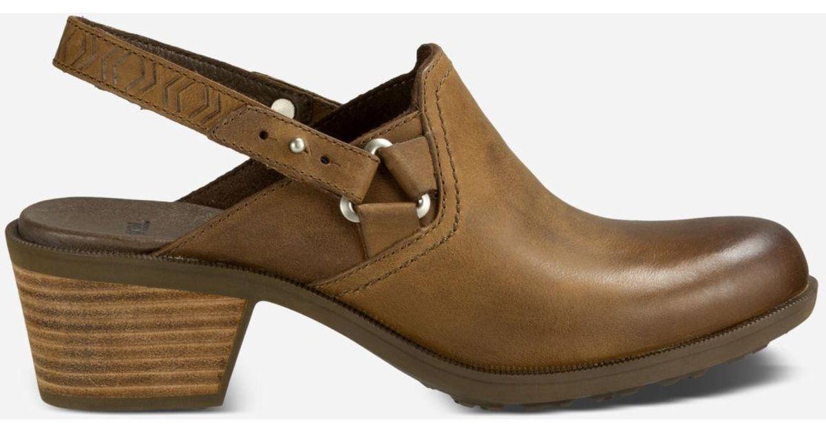 2968428259fa Lyst - Teva W Foxy Leather Clog in Brown - Save 80%