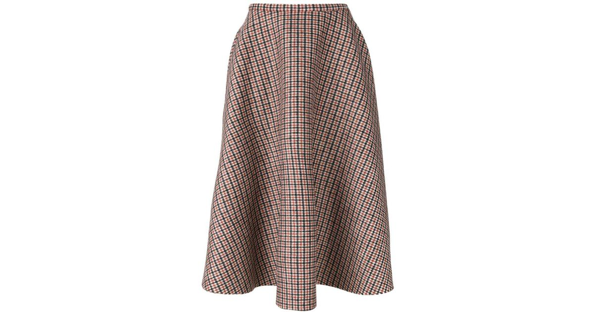767b6c0971 N°21 No21 Plaid Full Midi Skirt - Lyst