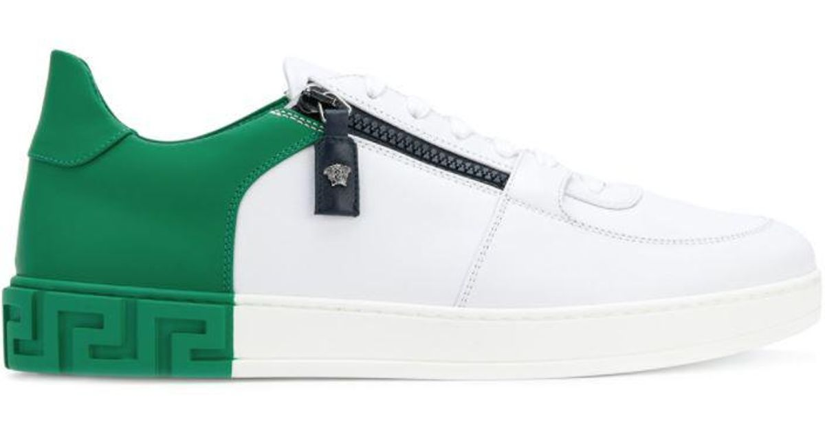 4c133003e47d Lyst - Versace Two-tone Sneakers in Green for Men
