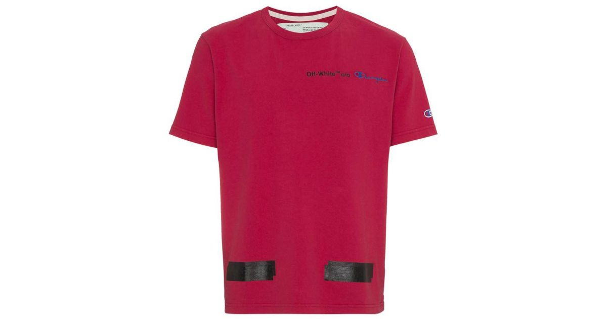 7f50bd58 Off-White c/o Virgil Abloh Off-white X Champion Arrows T Shirt in Red for  Men - Lyst