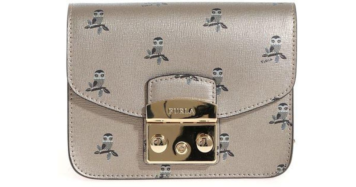 Furla Metropolis bag with owl prints RDBP7kMNf