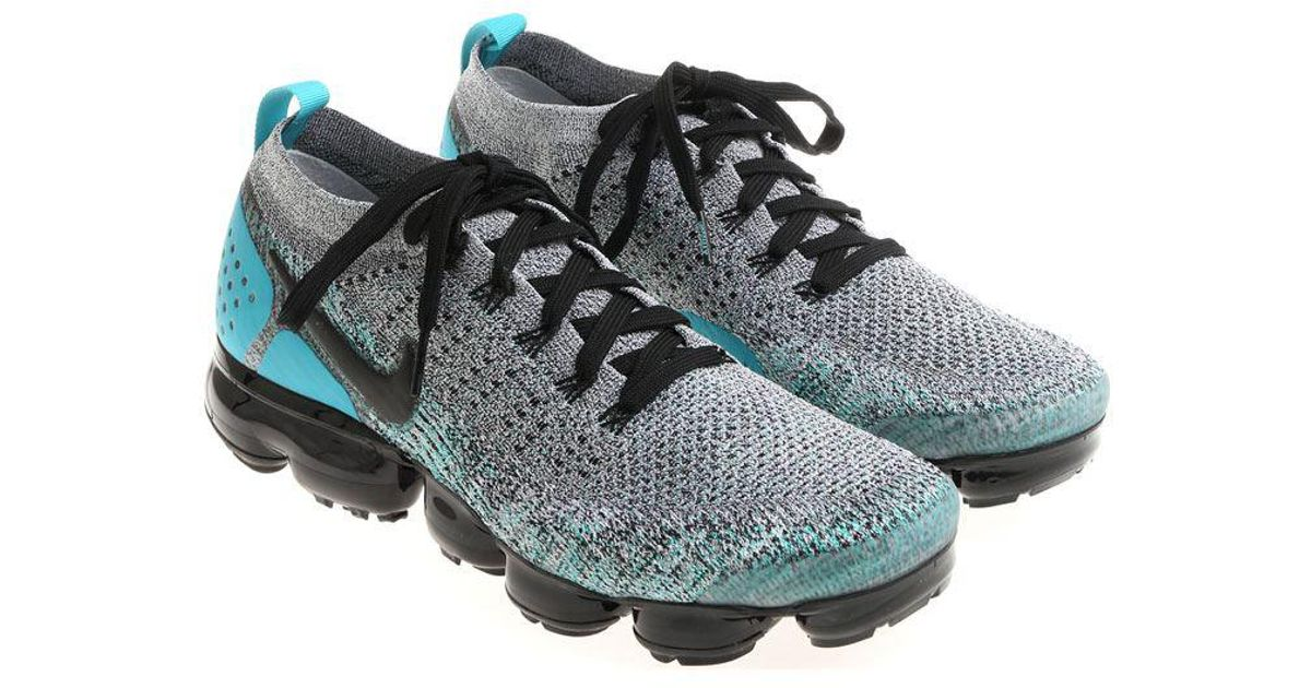 7db9c0079b474 Lyst - Nike Grey And Light Blue Air Vapormax Flyknit 2 Sneakers in Gray for  Men
