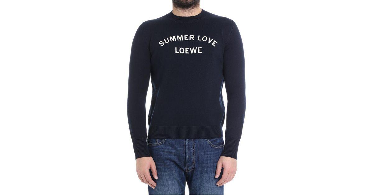 Sweater Love Loewe Bleu Summer Summer Loewe w0OqIvrO
