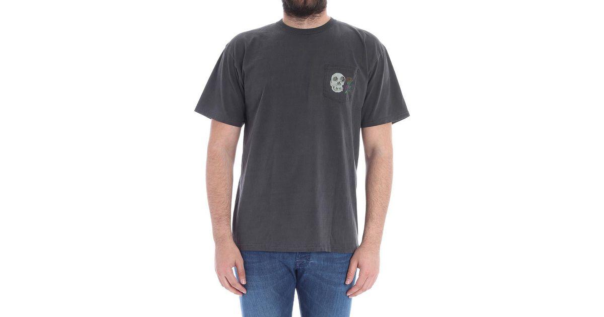 Lyst stussy black calavera t shirt in black for men