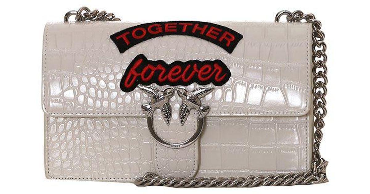 Pinko White Love Together Forever bag dJkwTkb