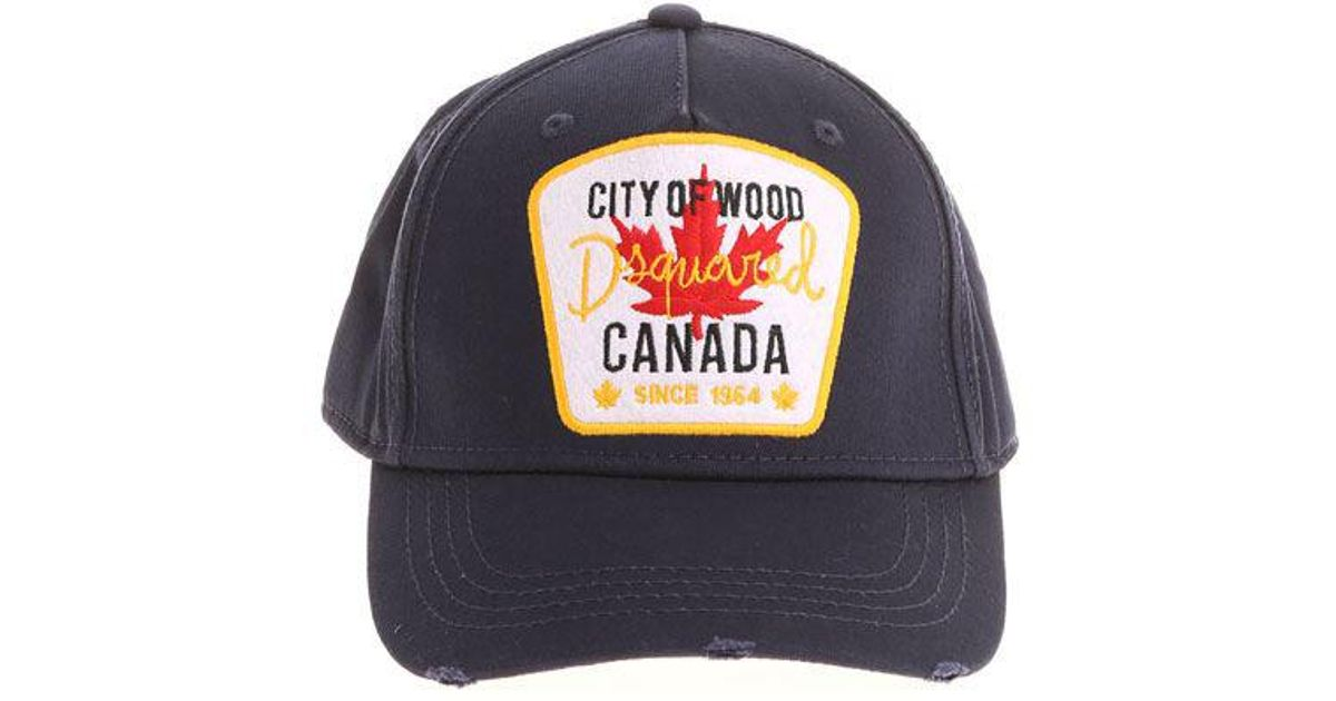 Lyst - Dsquared² Blue Canada City Of Wood Cap in Blue for Men 7ace8df2bcbc