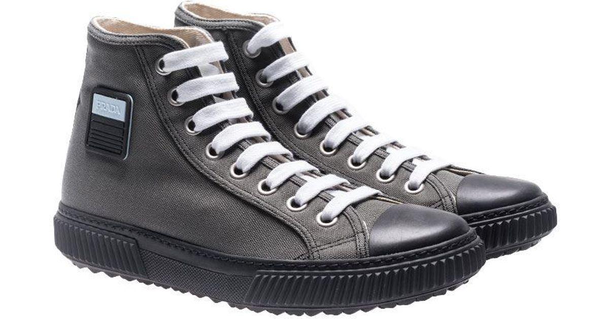 1987fb8a7bc Hommes Pour Chanvre Prada De Lyst Avec Insert Sport Sneakers Logo 7ZAxqzwH