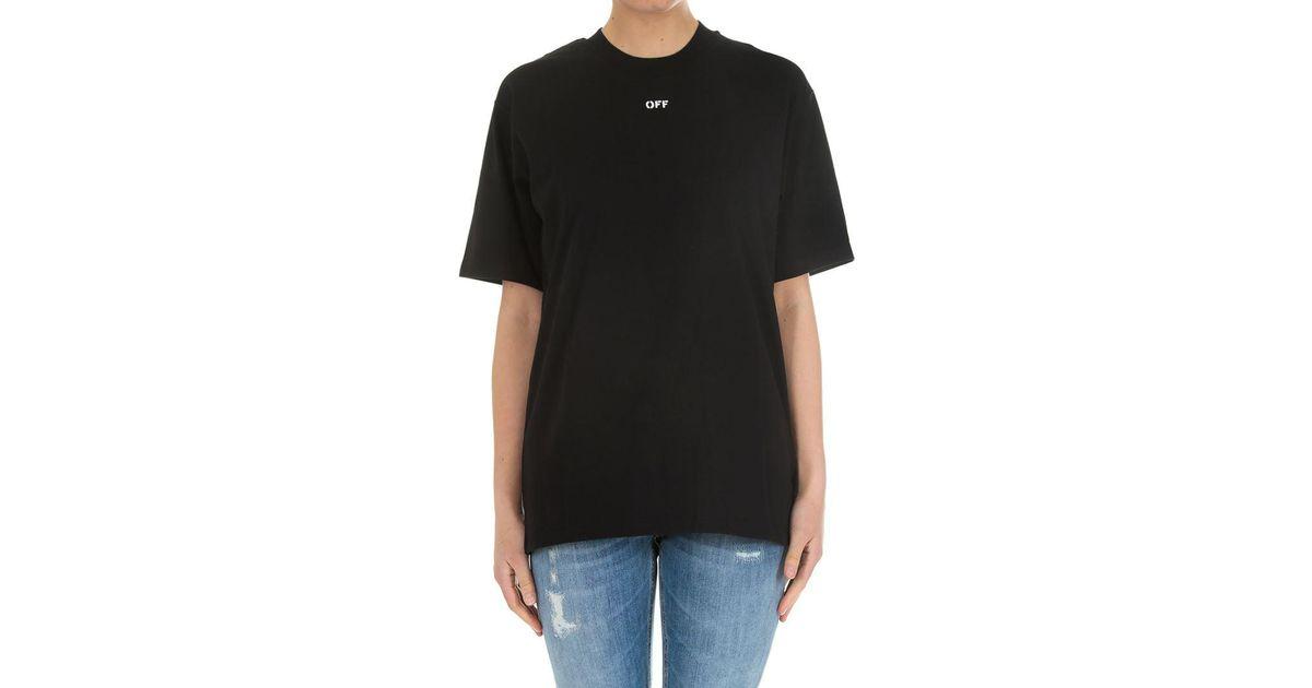 2129157320cd52 Off-White c/o Virgil Abloh Black Flower Shop New Oversize T-shirt in Black  - Lyst