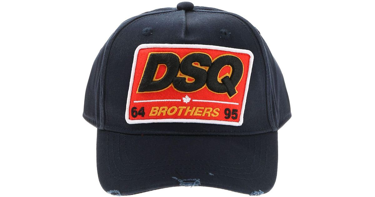 Lyst - DSquared² Blue Dsq Brothers Baseball Hat in Blue for Men 54553219c71