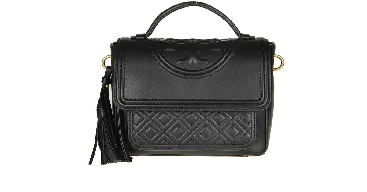 e4c7ae86f5a Lyst - Tory Burch Black Fleming Handbag in Black