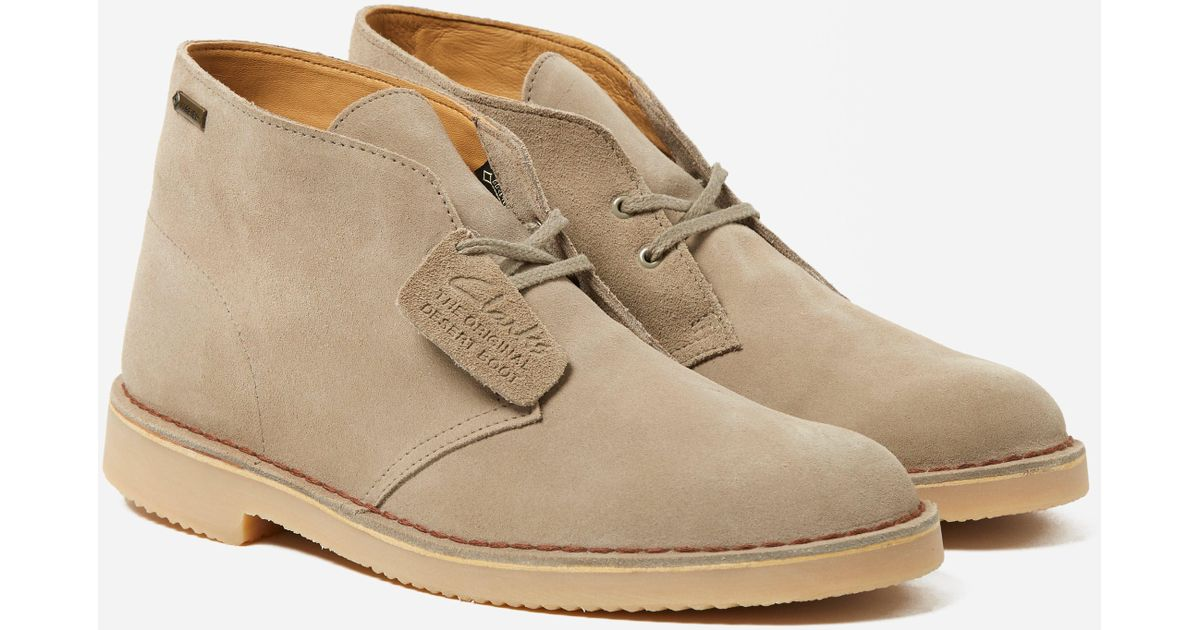 elegant and sturdy package no sale tax exceptional range of colors Clarks Desert Boot Gtx in Natural for Men - Lyst