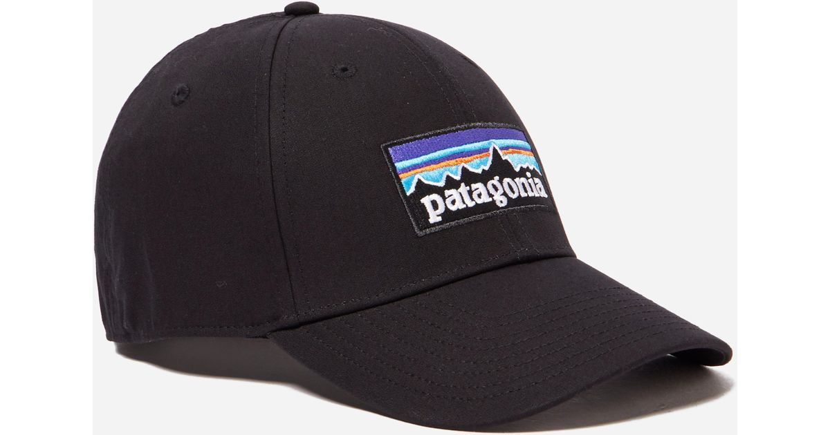 25ab1017e13 Lyst - Patagonia P6 Logo Stretch Fit Hat in Black for Men