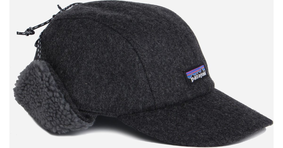 6a774365 Patagonia Recycled Wool Ear Flap Cap in Gray for Men - Lyst