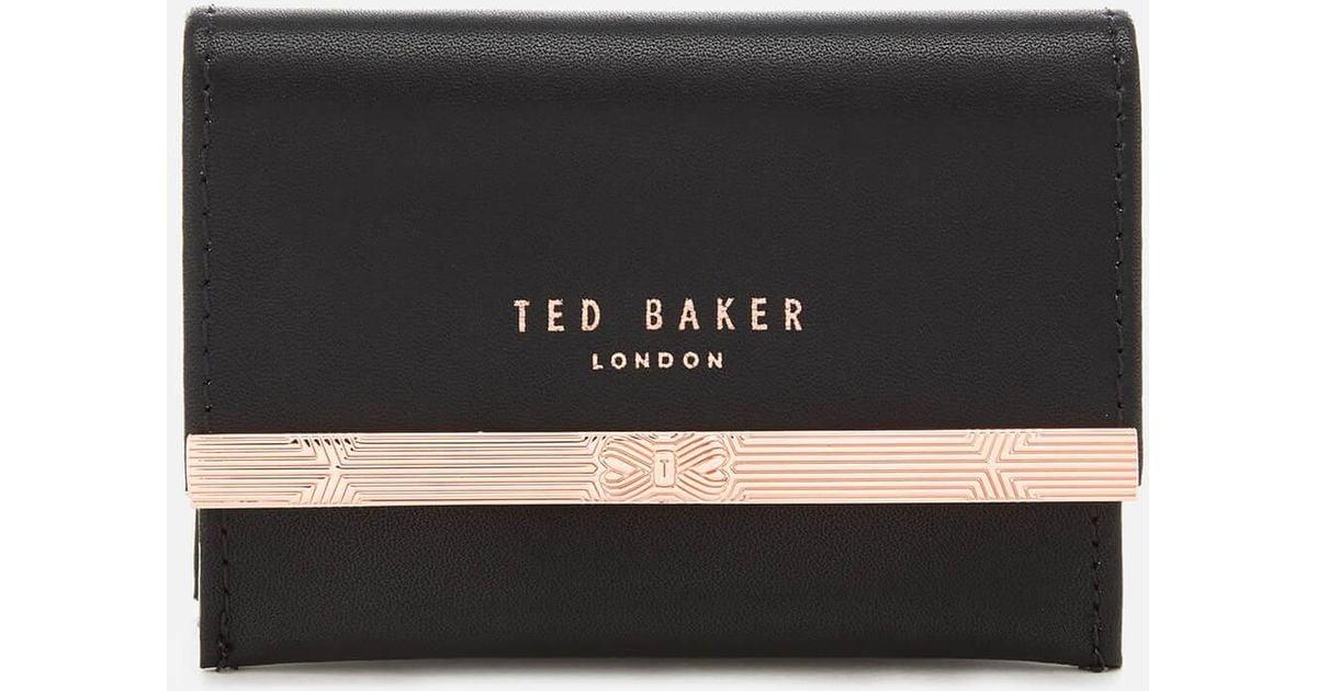 Textured Leather Concertina Credit Card Holder Ted Baker 41CwbA6