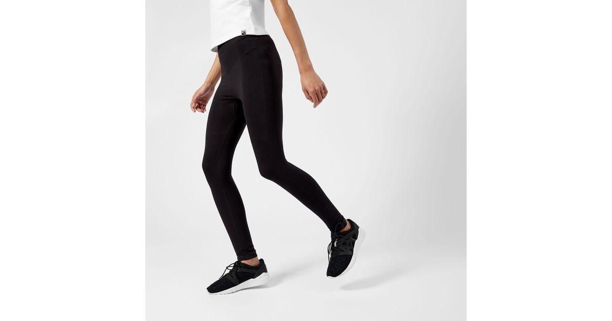 cf23b349559852 PUMA Evoknit Leggings in Black - Lyst