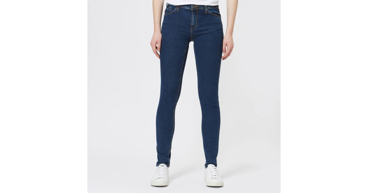 cc607d587e Lyst - Emporio Armani J28 Mid Rise Jeans in Blue - Save 40%