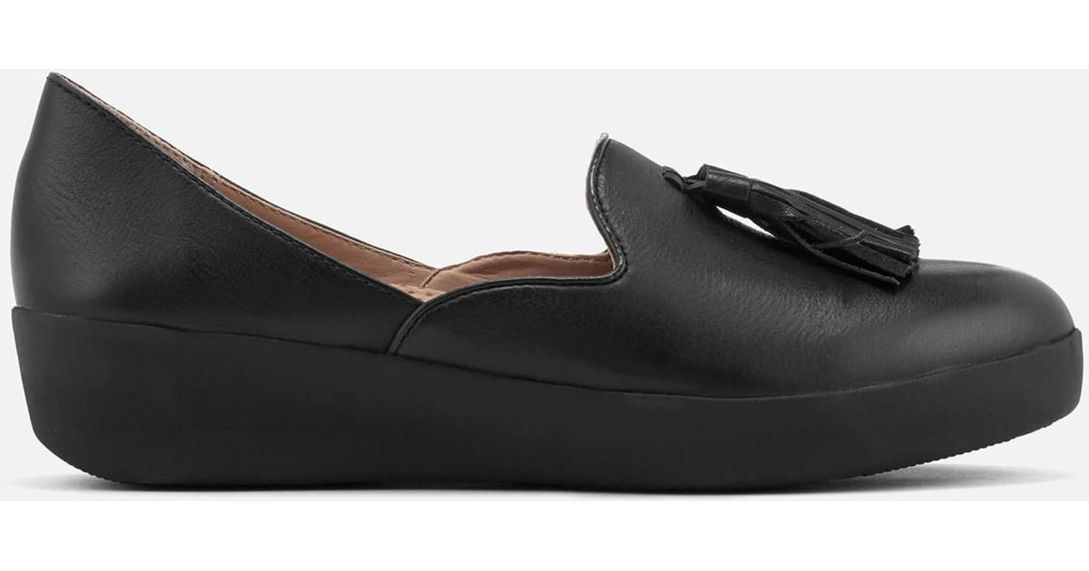 29ea7012936 Fitflop Tassel Superskate D orsay Loafers in Black - Lyst
