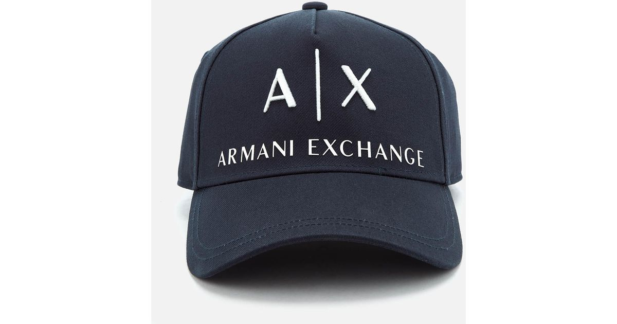 8f5879f20c4c Armani Exchange Logo Cap in Blue for Men - Lyst