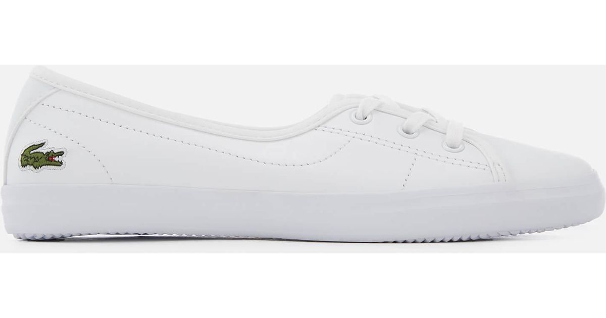 302fe9402 Lyst - Lacoste Ziane Chunky Bl Leather 3-eye Pumps in White