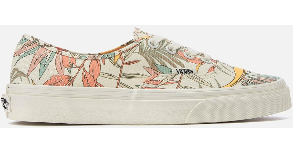 ee5cd055bb Lyst - Vans California Floral Authentic Trainers in Natural