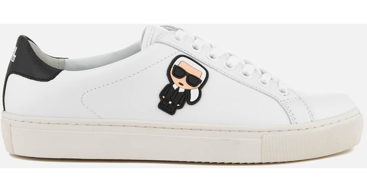 KARL LAGERFELD SKOOL IKONIC LACE - High-top trainers - white FH4nwf