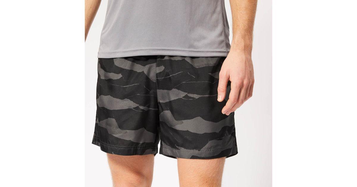 48345abd96 adidas Run It Camo 5 Inch Shorts in Gray for Men - Lyst