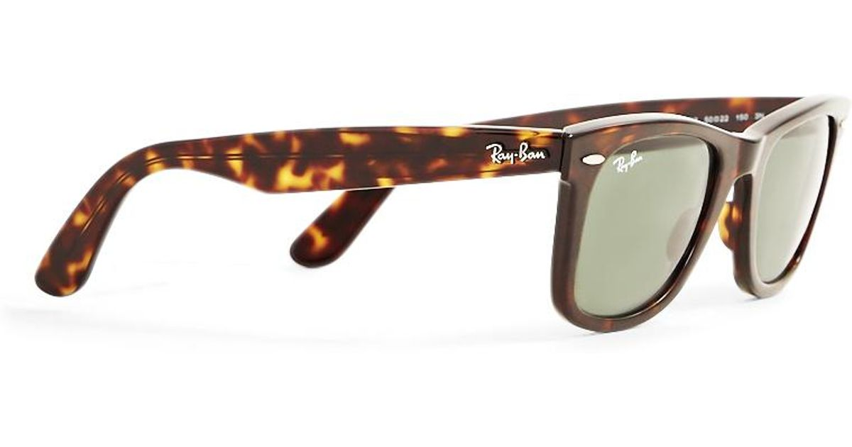 0ba6ba269a948 Lyst - Ray-Ban Wayfarer Sunglasses Large Rb2140 902 Tortoise Shell in Brown  for Men