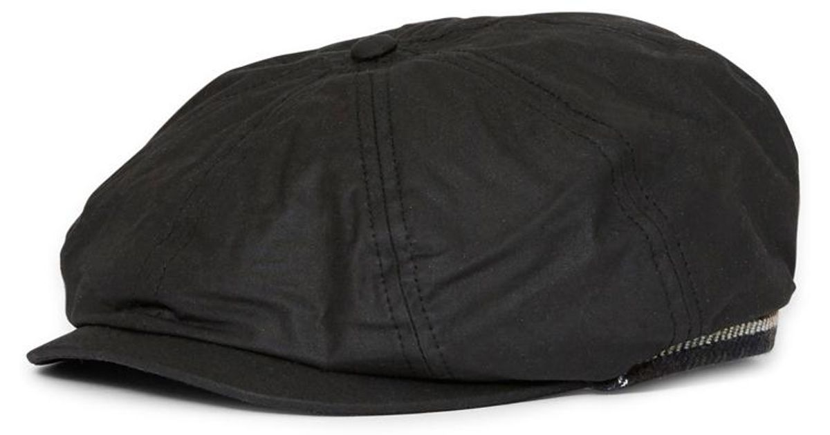 Barbour Guillemot Bakerboy Hat Black in Black for Men - Lyst 9838626ce68
