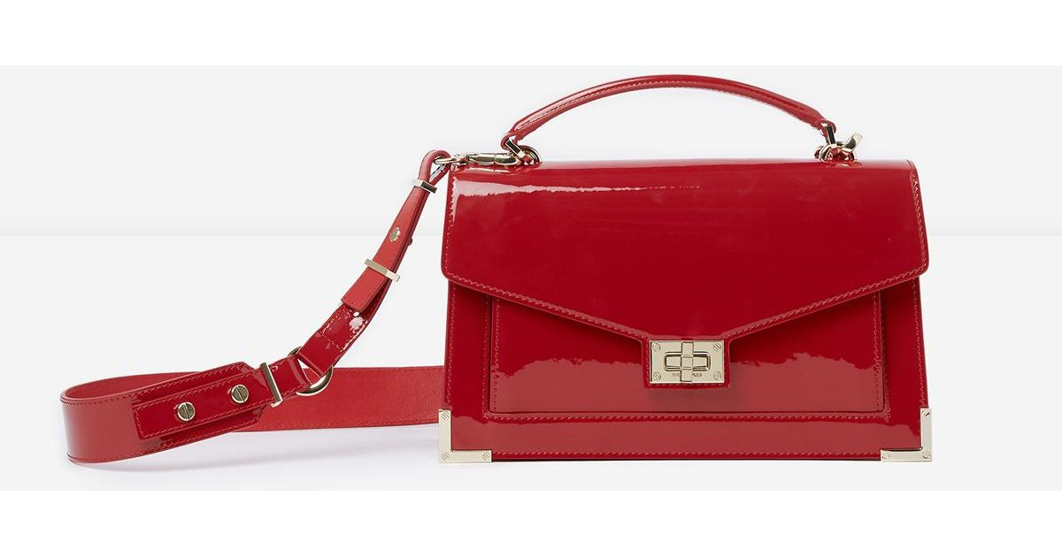 09c33ab99b0c Lyst - The Kooples Medium Red Patent Emily Bag in Red