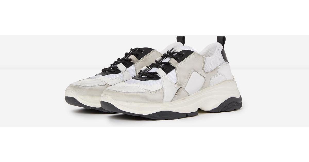 Kooples Black Chunky The And Lyst In Leather White Trainers 76vIbfgYym