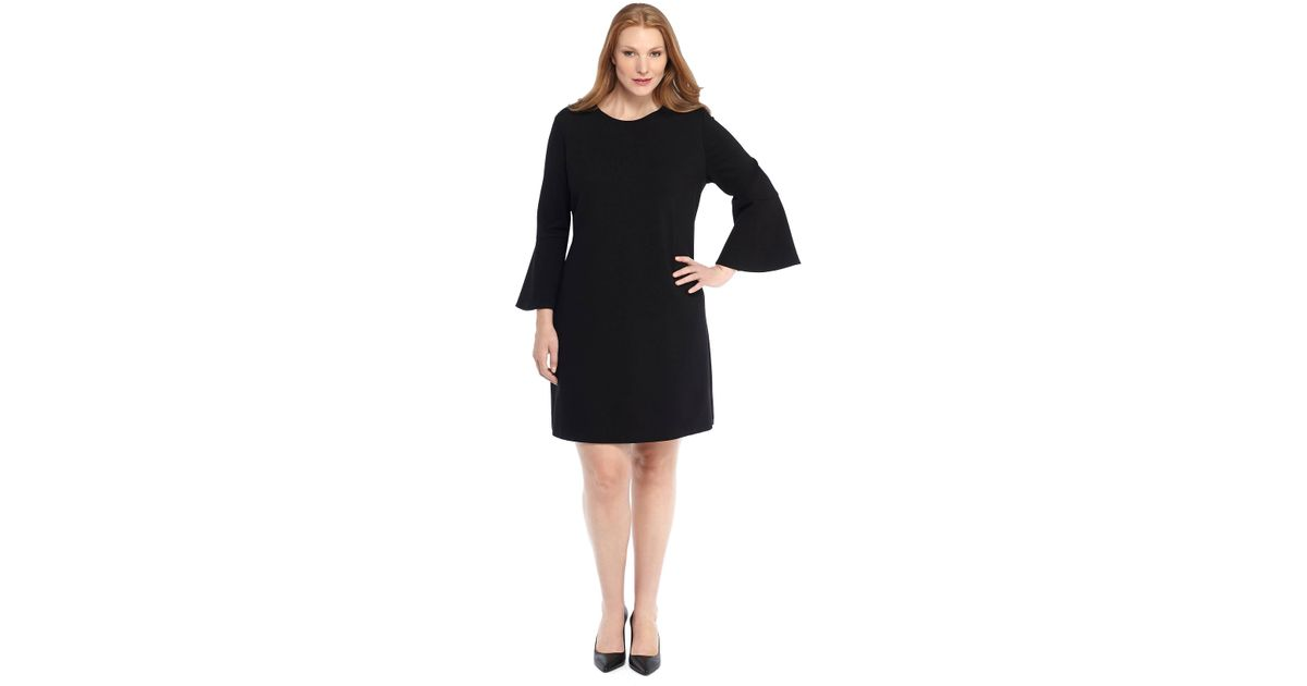 Lyst - The Limited Plus Size Bell Sleeve Ponte Knit Dress in Black