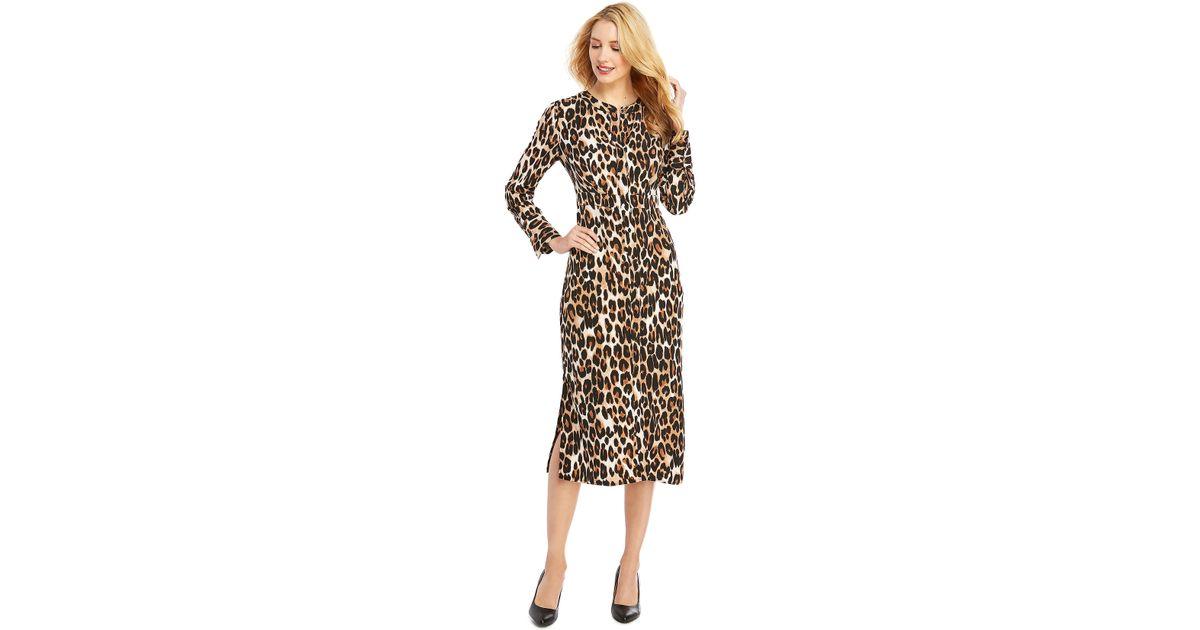 b25176a68079 Lyst - The Limited Midi Crepe Dress