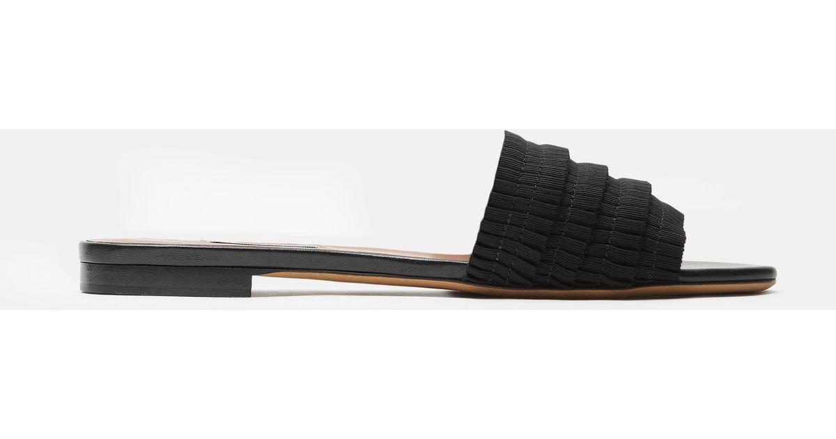 Tabitha Simmons Pleated grosgrain sandals
