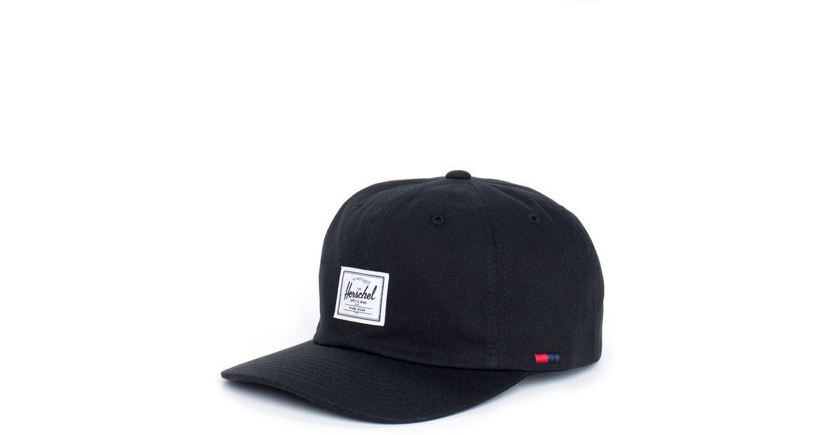 ... cheap lyst herschel supply co. cap albert in black for men 8feaf dac3d  ... e3c94ef39e90