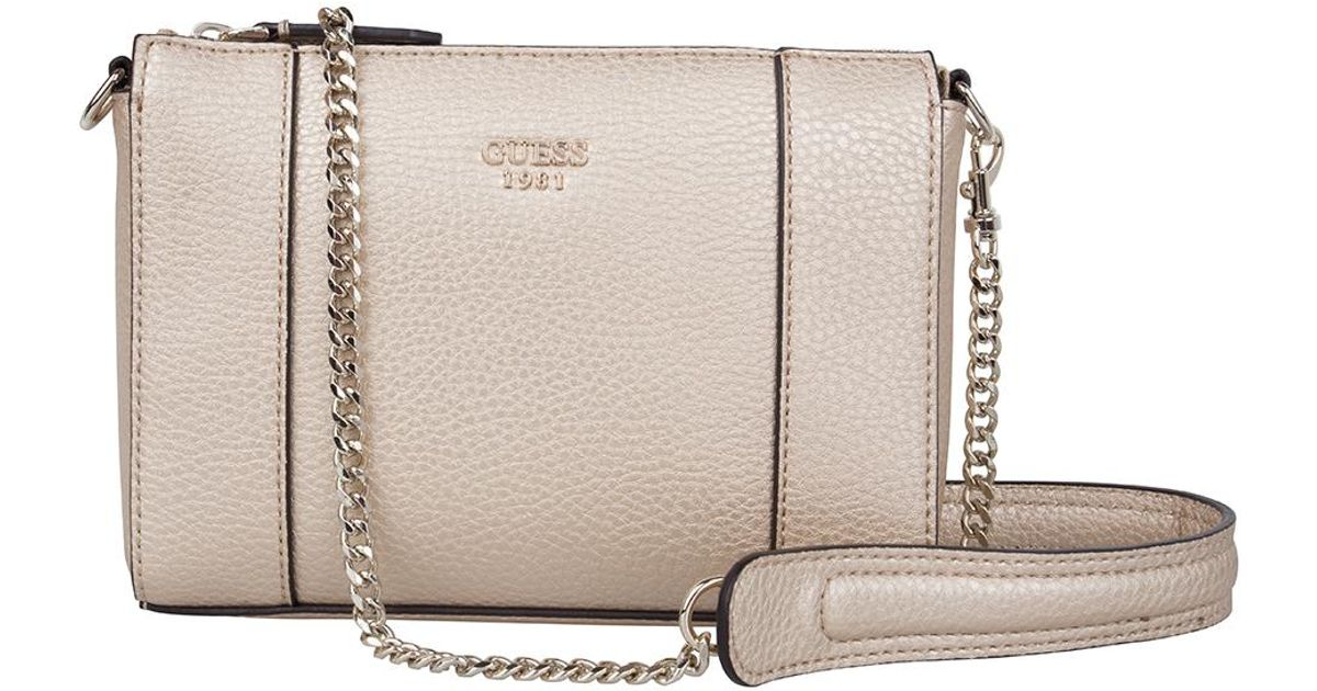 1d37f7cd0b Lyst - Guess Kamryn Mini Convertible Crossbody in Metallic