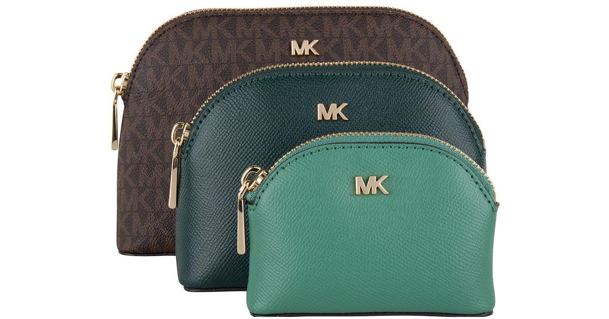 Michael Kors Travel Pouch Trio in Green - Lyst e104fd0ec458d