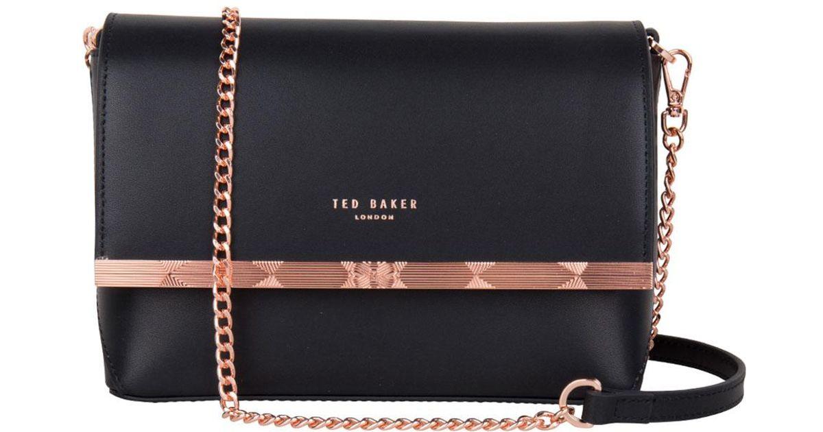 29fe9da7905c8 Lyst - Ted Baker Melisaa Crossbody Bag in Black