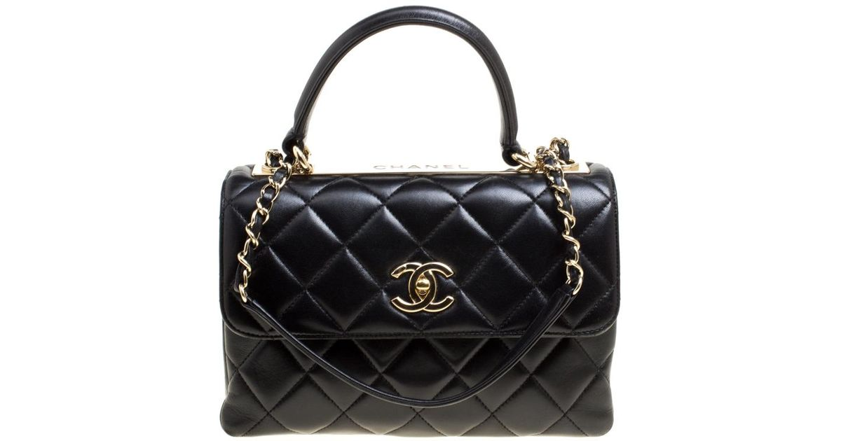 199380cf735c Chanel Quilted Leather Small Trendy Cc Flap Shoulder Bag in Black - Lyst