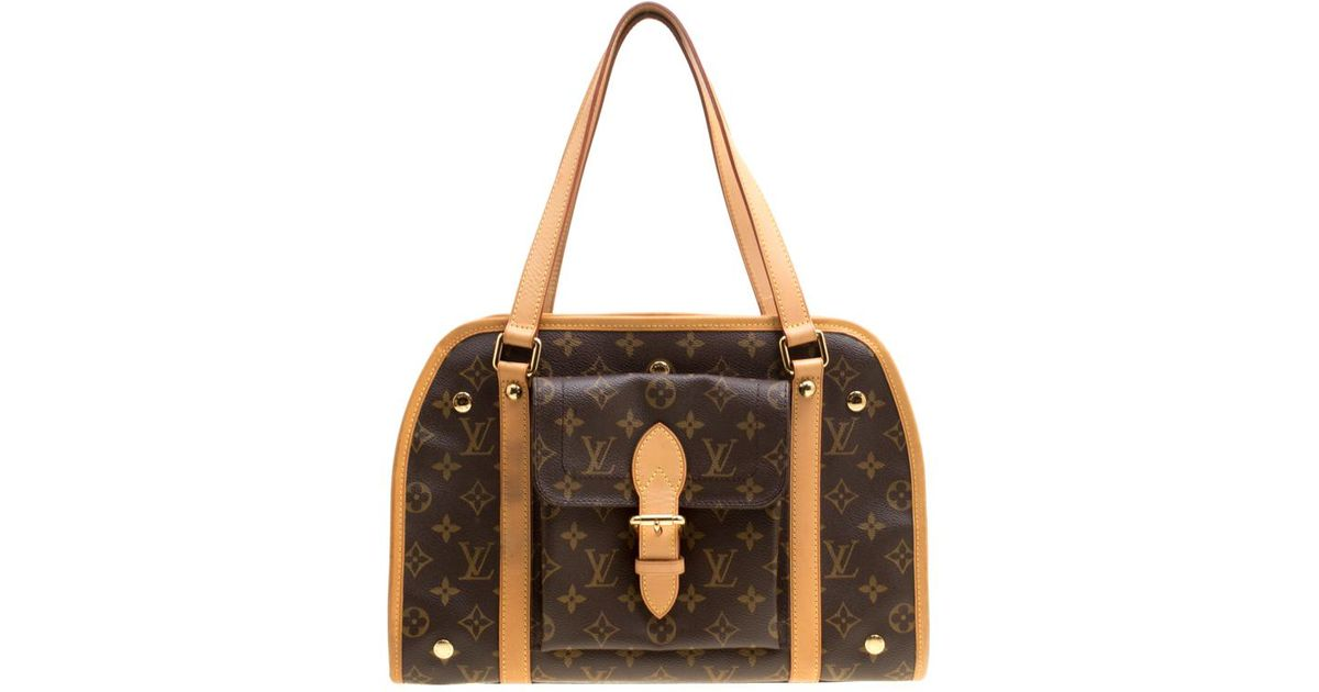 ef4d4ee1ae75 Lyst - Louis Vuitton Monogram Canvas Sac Baxter Pm Dog Carrier Bag in Brown