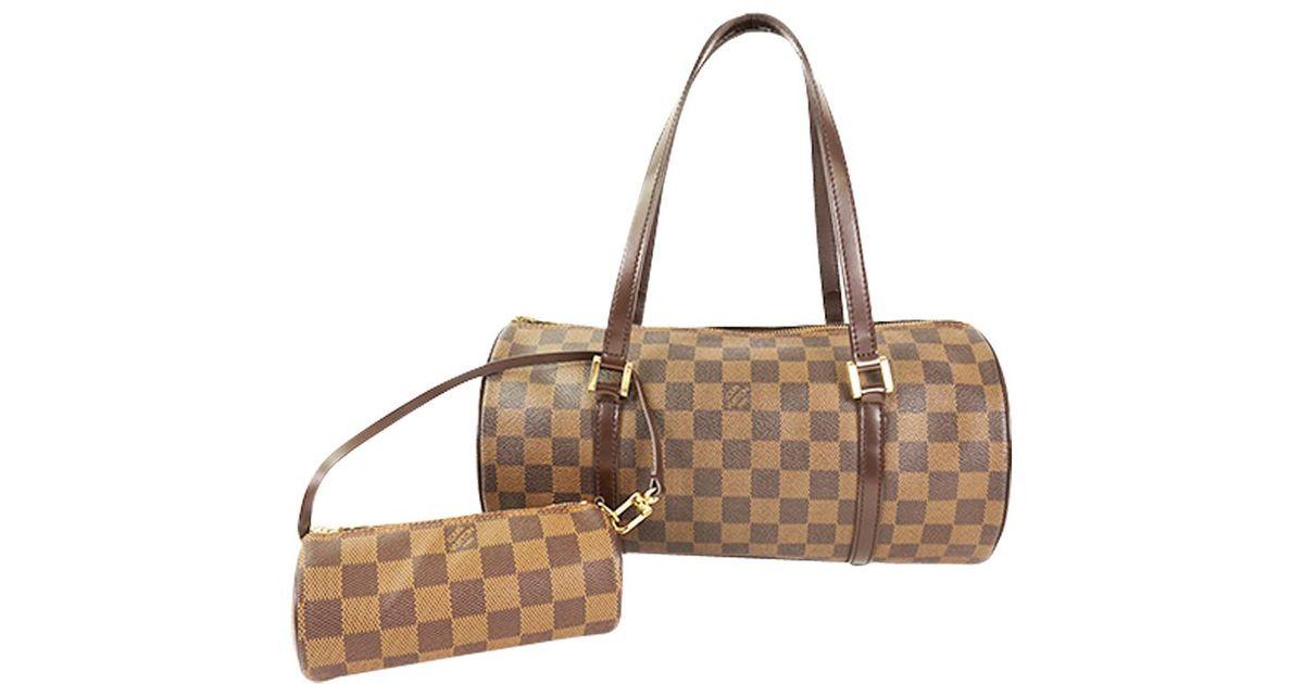 39a43b906e1c Lyst - Louis Vuitton Damier Ebene Canvas Papillon 30 Bag in Brown