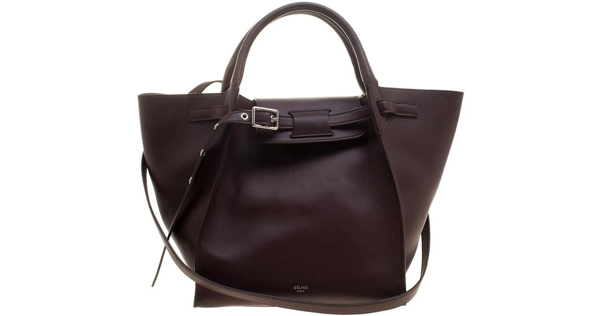 Lyst - Céline Leather Big Bag Bucket Bag 27fab1e0f41fa