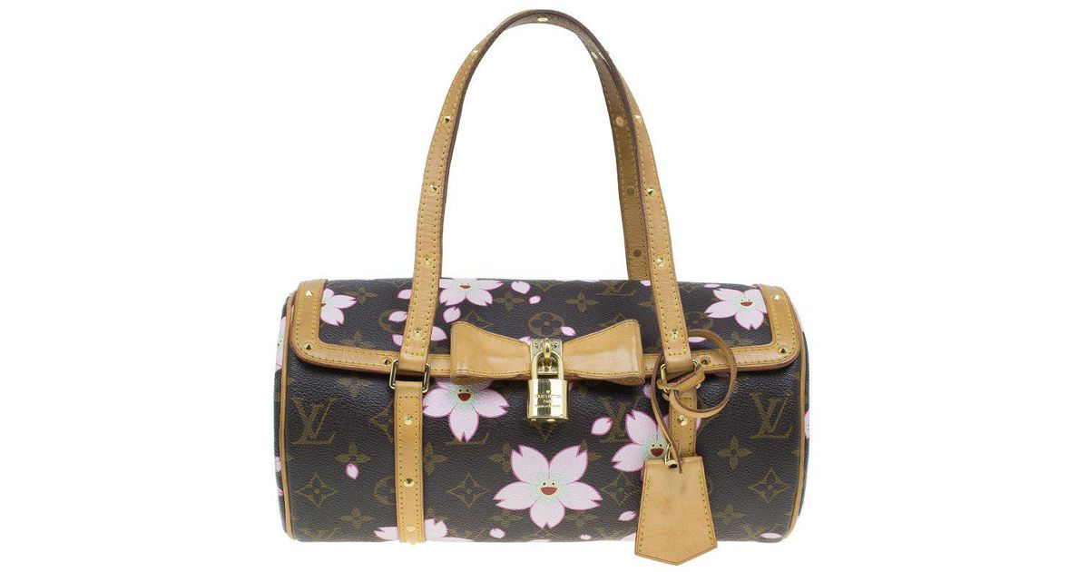 3d8afea21537 Louis Vuitton Monogram Canvas Limited Edition Cherry Blossom Papillon Bag  in Brown - Lyst