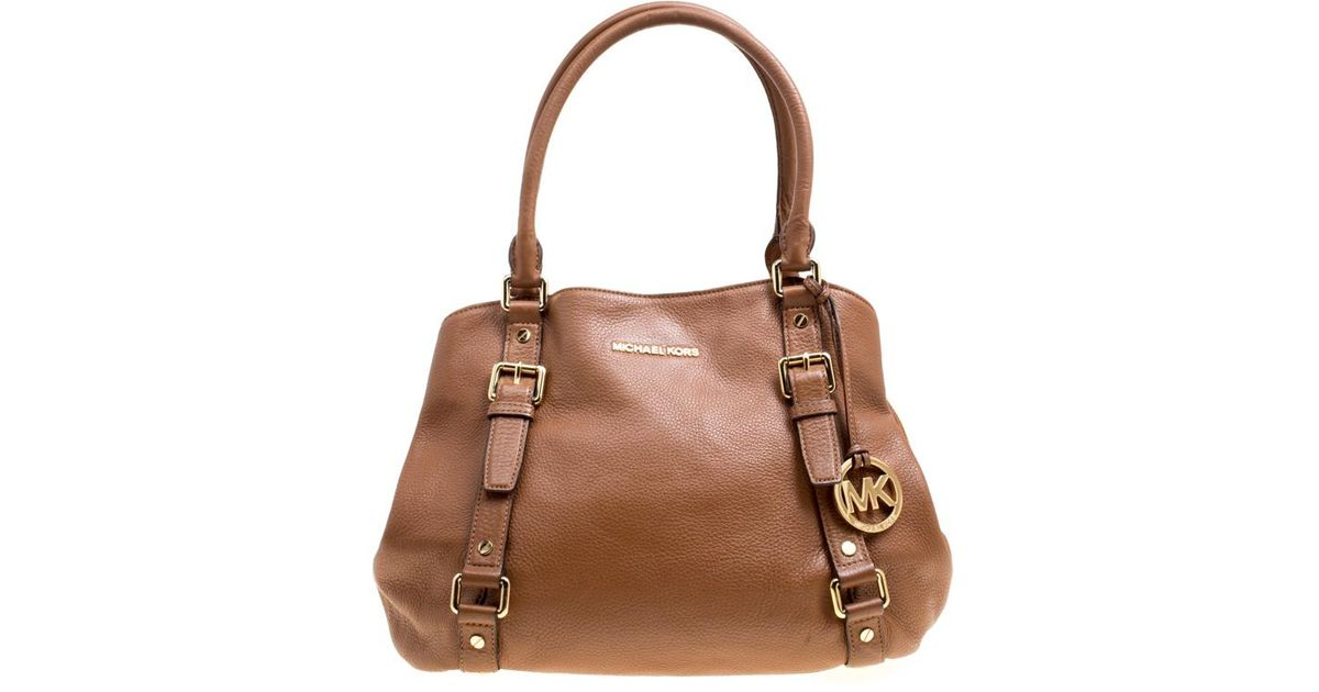 b01bc123a879 MICHAEL Michael Kors Brown Leather Bedford Satchel in Brown - Lyst