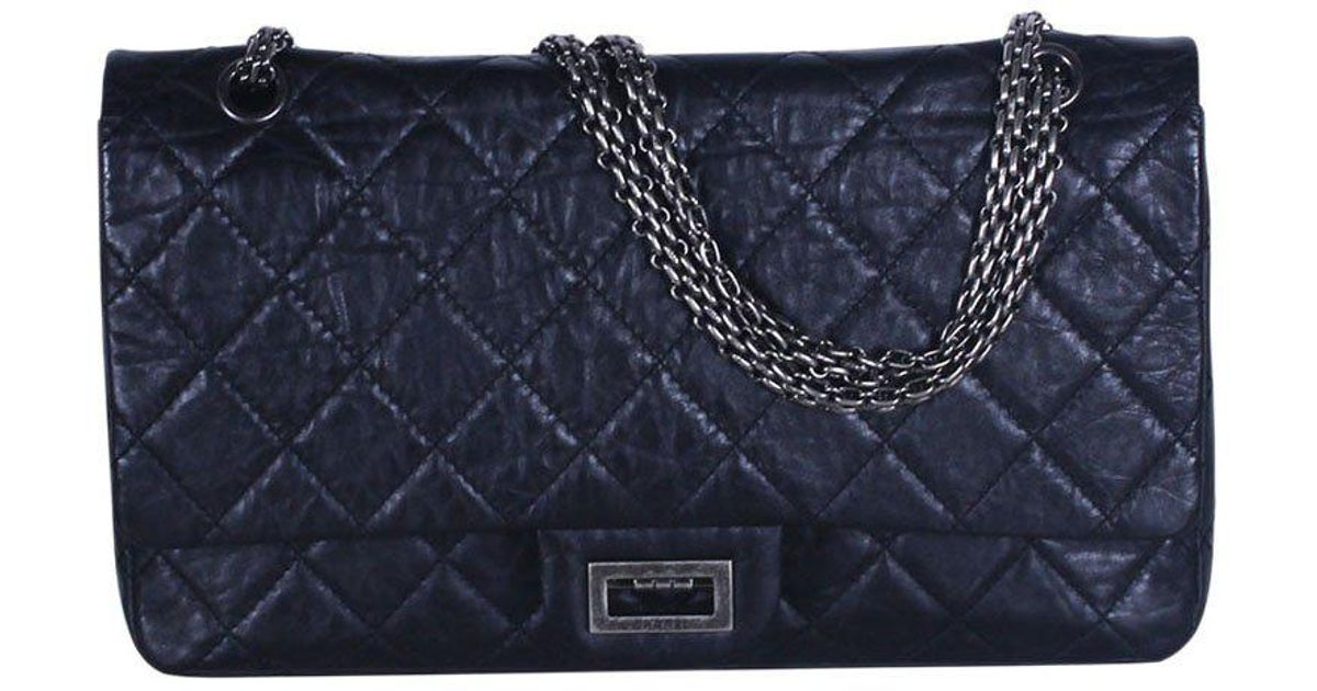a9320bbc7c45 Chanel - Black Quilted Aged Calfskin 226 Reissue 2.55 Flap Bag - Lyst