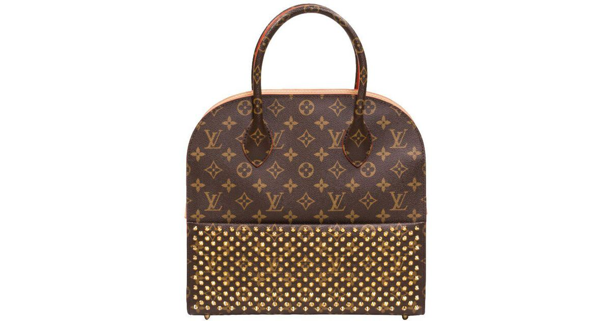 757e180bd0c89 Louis Vuitton Monogram Canvas Limited Edition Christian Louboutin Shopping  Bag - Lyst
