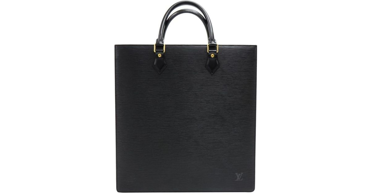 3d26616666ec Lyst - Louis Vuitton Noir Epi Leather Sac Plat Bag in Black