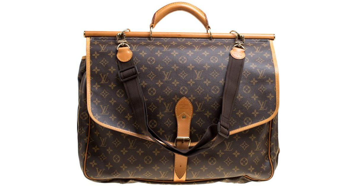 0eda476e16b Louis Vuitton Monogram Canvas Sac Chasse Hunting Bag in Brown - Lyst