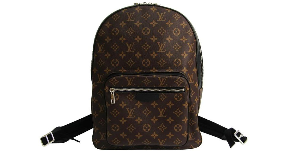 e710fa45415f Lyst - Louis Vuitton Monogram Macassar Canvas Josh Backpack in Brown for Men