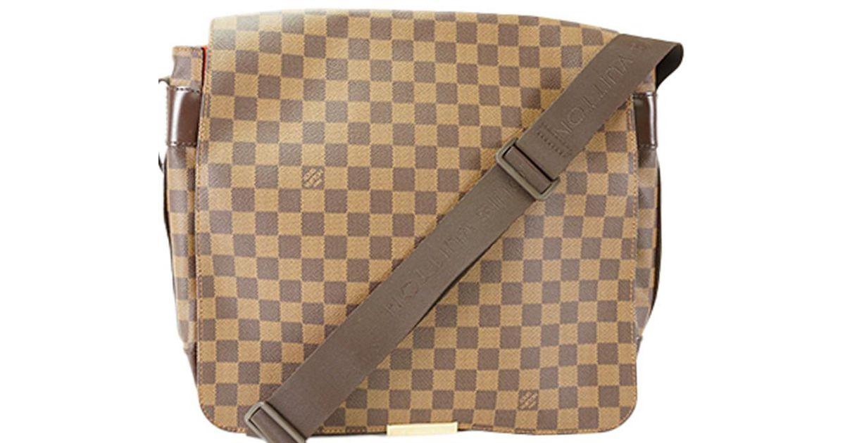 5e276864ed50 Lyst - Louis Vuitton Damier Ebene Canvas Bastille Messenger Bag in Brown  for Men